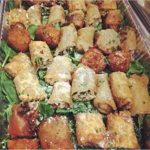 Jersey's Catering Assorted Italian Eggrolls & Fried Mac N cheese Balls